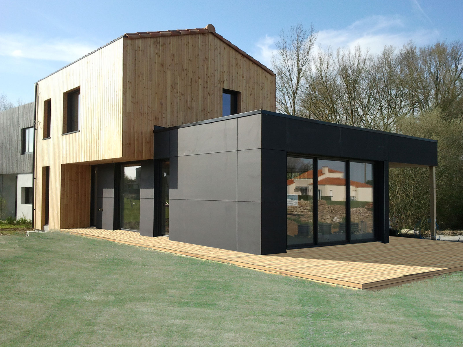construction maison Vallet architecte ATELIER 14