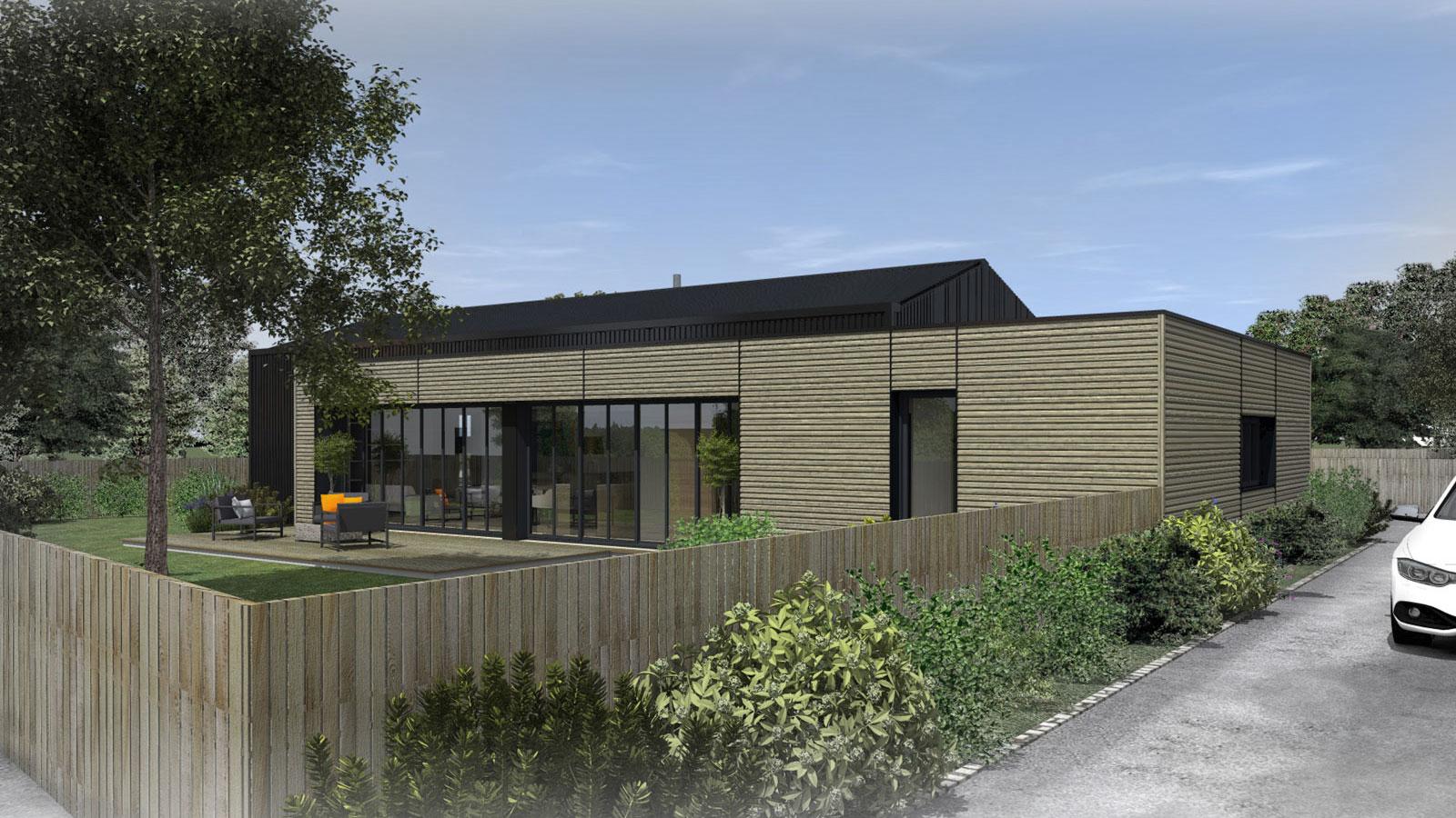 construction d 39 une maison la chevroli re architecte atelier 14. Black Bedroom Furniture Sets. Home Design Ideas