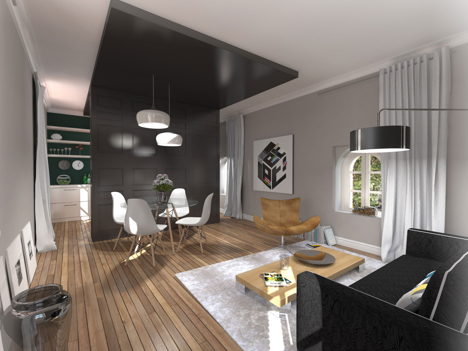 am nagement int rieur d 39 un studio clisson atelier 14. Black Bedroom Furniture Sets. Home Design Ideas