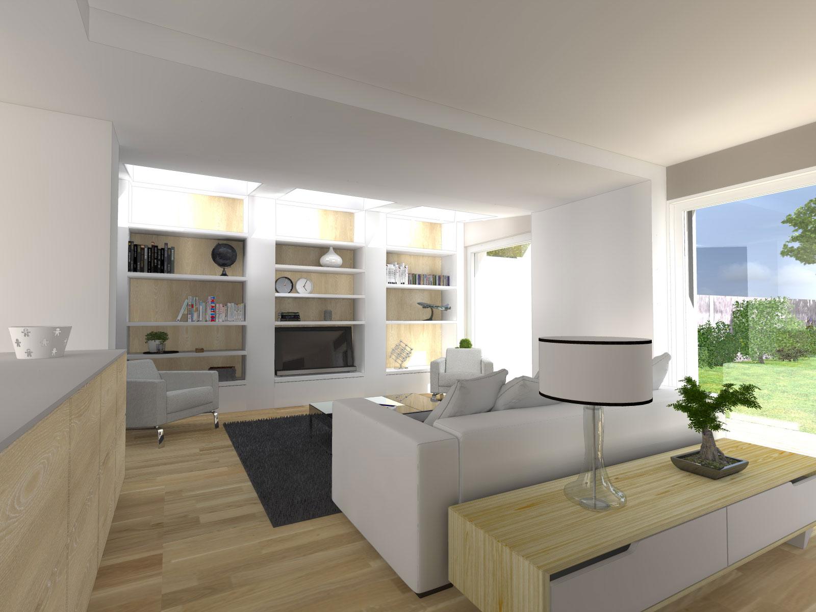 Extension d 39 une maison l 39 herbergement atelier 14 for Extension maison 85