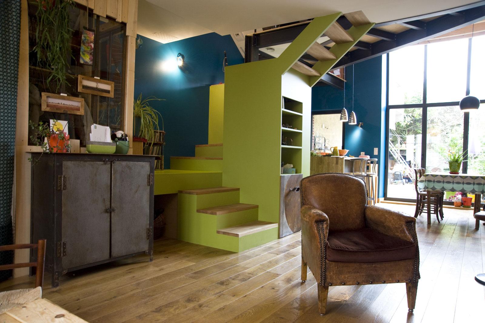 am nagement d 39 une maison de ville clisson architecte ma tre d 39 oeuvre atelier 14. Black Bedroom Furniture Sets. Home Design Ideas
